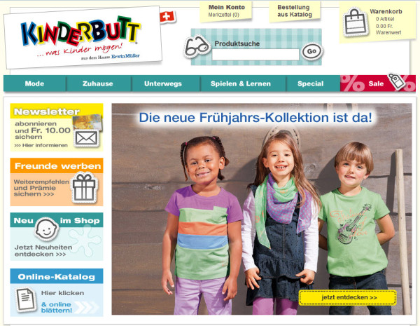 Kinderbutt Schweiz Onlineshop für Kindermode