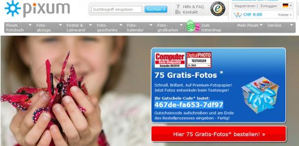 Pixum Gutscheine & Rabatte: 75 gratis Fotos, gratis Poster