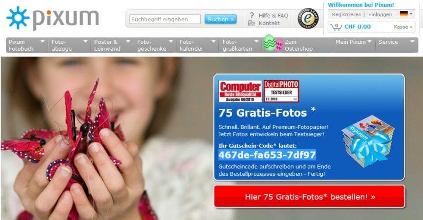 pixum 75 gratis fotos