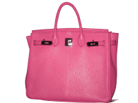 birkin, handtasche, pink, schloss, hermès