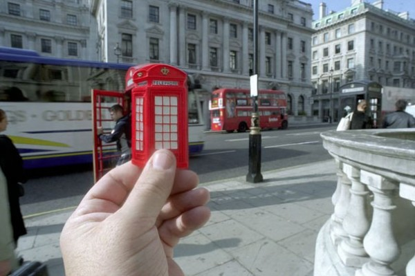 Telefonzelle, England, Rot