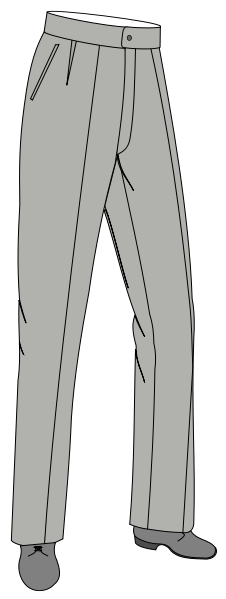hose, beine, bundfalte, trousers, grau