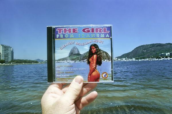 Meer, Ipanema, CD, Hand, Frau, Bikini
