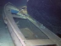 boot, unterirdischer see, leonardsee, frankreich
