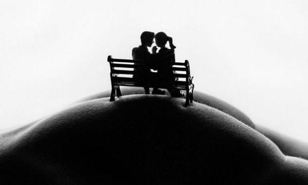 romantisch auf einer Bank