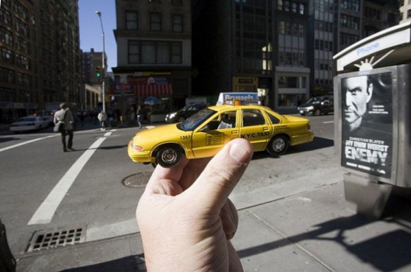 Taxi, gelb, straße, New York, NY, NYC