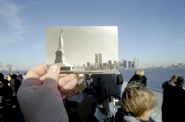 Freiheitsstatue, Statue of Liberty, New York, America, Amerika, Hand, Menschen, Wasser, Himmel, blau