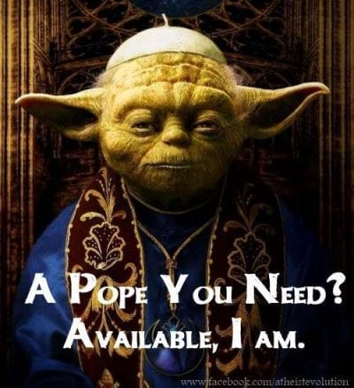 Yoda als Papst Nachfolger