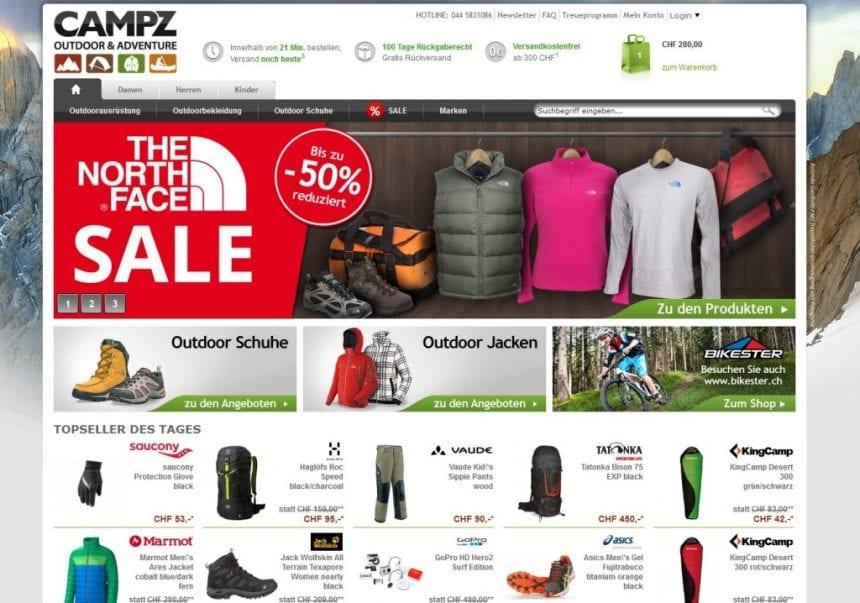 Campz.Ch Startseite des Shops