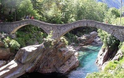 ponte dei Salti, Verzasca Tal, Schweiz, Lago Maggiore