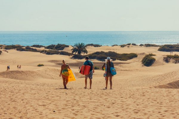 Dünen an der Playa del Ingles auf Gran Canaria