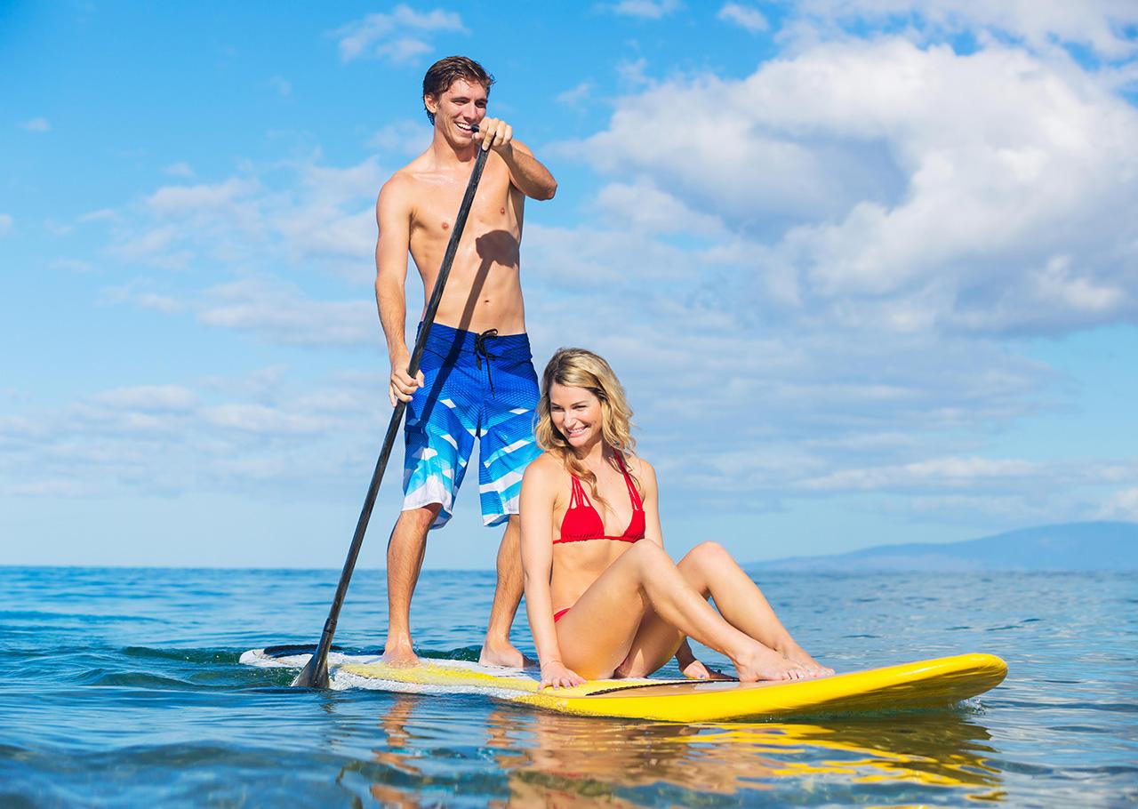 SUP Board kaufen - die besten Tipps um das richtige Standup Paddle zu finden. Egal ob aufblasbares SUP oder Hardboard.