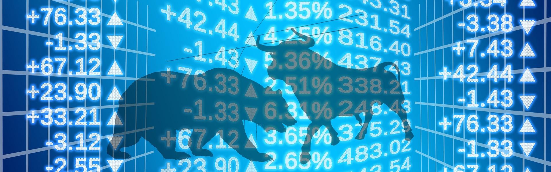 Wertpapierhandel an der Börse - Bulle & Bär an der Börse