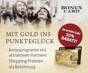 Visa Kreditkarte mit Bonusprogramm