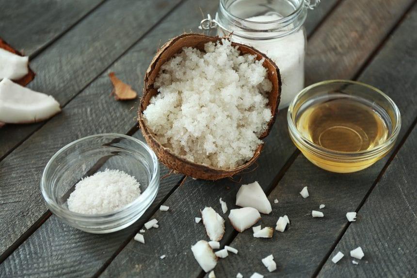Zutaten für ein natürliches Peeling