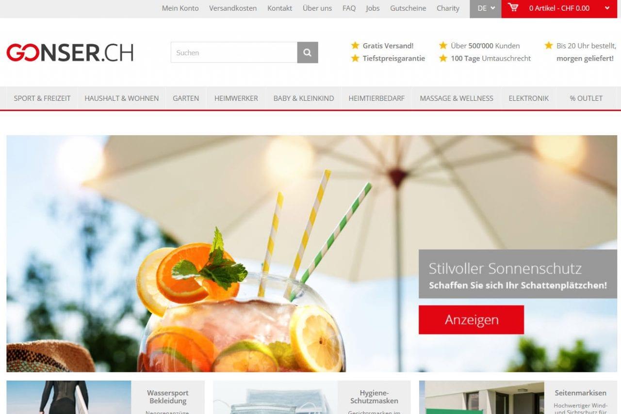 Gonser Schweiz Shop
