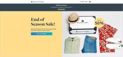 Outfittery Startseite