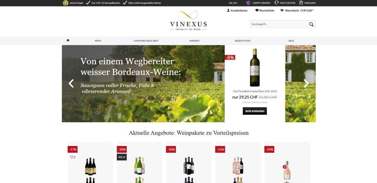 Vinexus Startseite