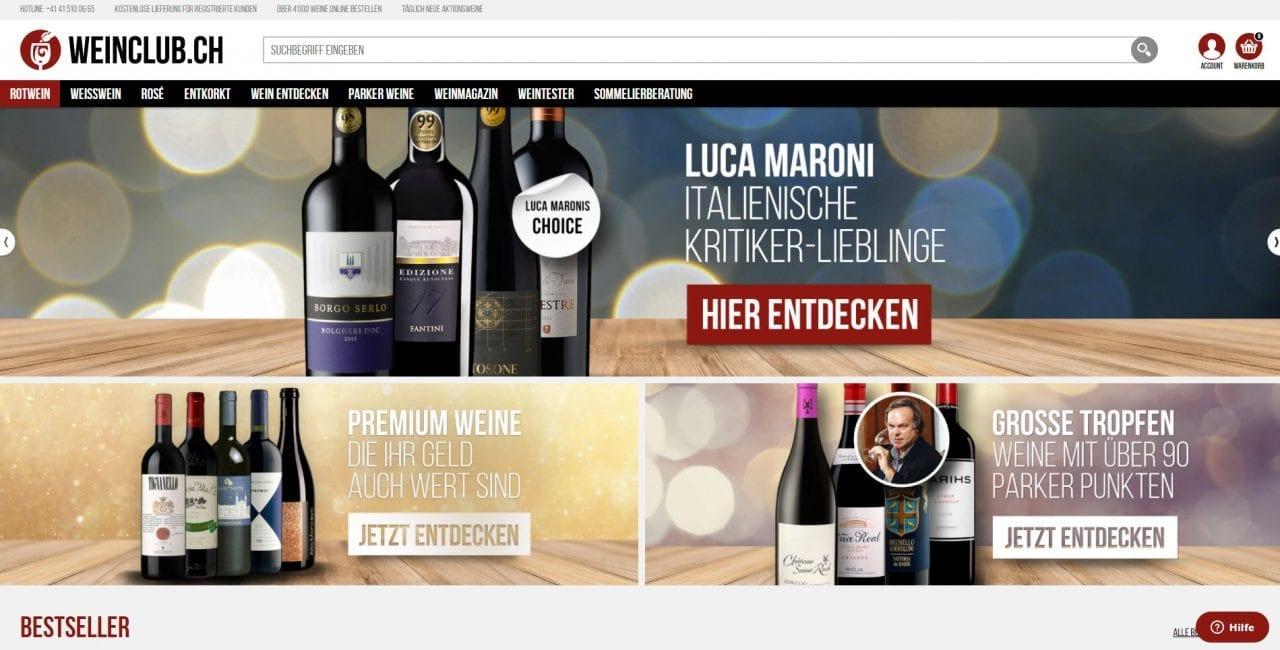 Weinclub.ch - Online-Shop für Wein | Infos & Erfahrungen