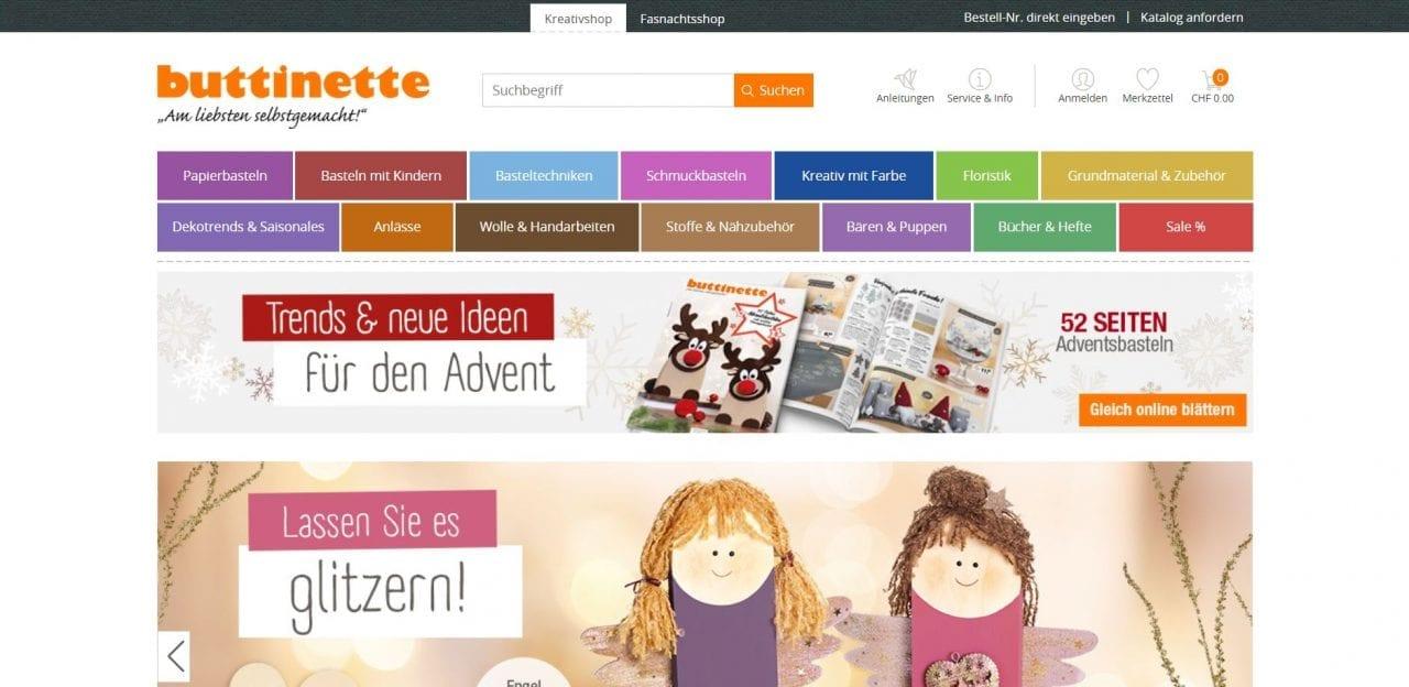 Buttinette Website
