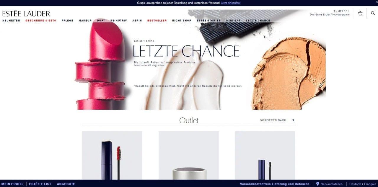 Estee Lauder Website