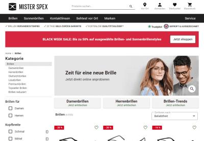 Mister Spex Brillen Shop Schweiz