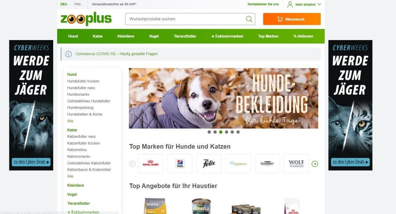 Zooplus Homepage