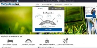 Reifendirekt Website