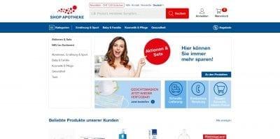 Shop Apotheke Website