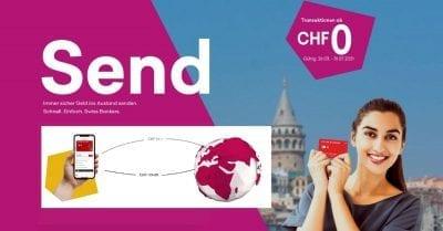 Swiss Bankers Send App - Geld ins Ausland senden